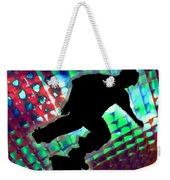 Red Green And Blue Abstract Boxes Skateboarder Weekender Tote Bag