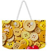 Red Heart And Yellow Buttons Weekender Tote Bag