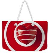 Red Heart Soft Stone Weekender Tote Bag