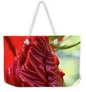 Red Hibiscus Torch Weekender Tote Bag