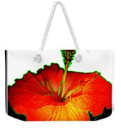 Red Hibiscus With Special Effects Weekender Tote Bag