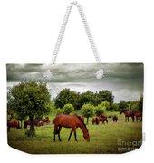 Red Horses Weekender Tote Bag