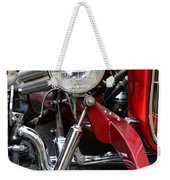Red Hot Rod- Light And Chrome Weekender Tote Bag