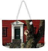 Red House And Snow Weekender Tote Bag