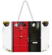 Red Irish Door Weekender Tote Bag