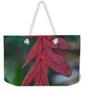 Red Leaf Hanging Weekender Tote Bag