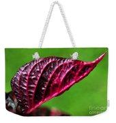 Red Leaf Weekender Tote Bag by Kaye Menner