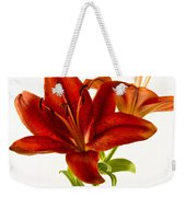 Red Lily Number One Square Weekender Tote Bag