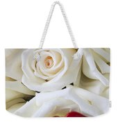 Red Lips And White Roses Weekender Tote Bag