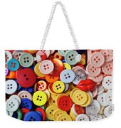 Red Lips Button Weekender Tote Bag