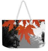 Red Maple Leaves Weekender Tote Bag