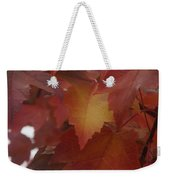 Red Maple With A Splash Of Gold Weekender Tote Bag