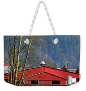 Red Matsqui Barn Weekender Tote Bag