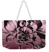 Red Metallic Dahlia Named Who Dun It Weekender Tote Bag