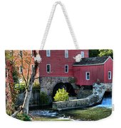 Red Mill On The Water Weekender Tote Bag