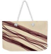 Red Nylon Fibers Weekender Tote Bag