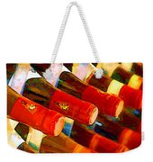 Red Or White Weekender Tote Bag by Elaine Plesser