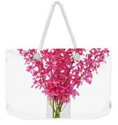 Red Orchid In Vase Weekender Tote Bag