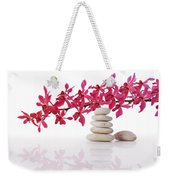Red Orchid With Balance Stone Weekender Tote Bag