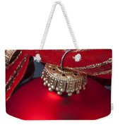 Red Ornaments Weekender Tote Bag