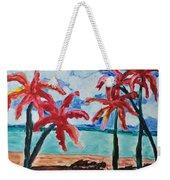Red Palms Weekender Tote Bag