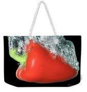 Red Pepper Falling Into Water Weekender Tote Bag