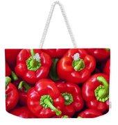 Red Peppers Weekender Tote Bag by Joana Kruse