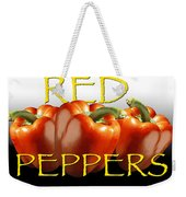 Red Peppers On White And Black Weekender Tote Bag