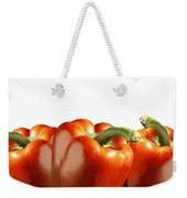 Red Peppers On White Weekender Tote Bag
