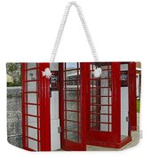 Red Phone Booths Weekender Tote Bag