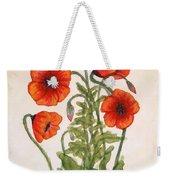 Red Poppies Watercolor Painting Weekender Tote Bag