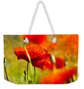 Red Poppy Flowers 01 Weekender Tote Bag