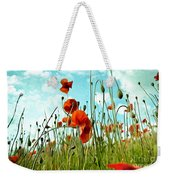 Red Poppy Flowers 03 Weekender Tote Bag