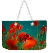 Red Poppy Flowers 05 Weekender Tote Bag by Nailia Schwarz