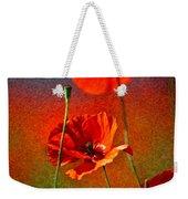Red Poppy Flowers 08 Weekender Tote Bag by Nailia Schwarz