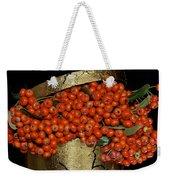 Red Pyracantha Berries Weekender Tote Bag