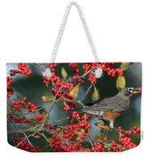 Red Robin Weekender Tote Bag