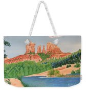 Red Rock Crossing Weekender Tote Bag by Aimee Mouw