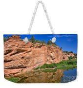 Red Rock Formation In The Kaibab Plateau In Grand Canyon National Park Weekender Tote Bag