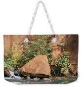 Red Rocks, Fall Colors And Creek, Oak Weekender Tote Bag