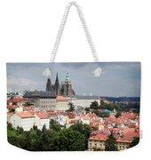 Red Rooftops Of Prague Weekender Tote Bag by Linda Woods