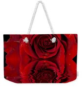 Red Rose Dew Weekender Tote Bag