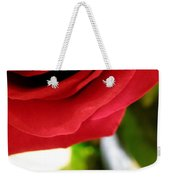 Red Rose In Glass Vase Weekender Tote Bag