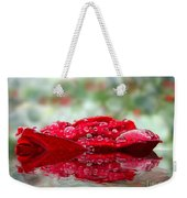 Red Rose Reflections Weekender Tote Bag