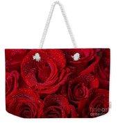 Red Roses And Water Drops Weekender Tote Bag