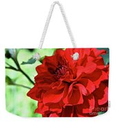 Red Ruby Dahlia Weekender Tote Bag