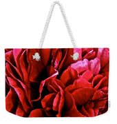 Red Ruffles Weekender Tote Bag