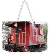Red Sante Fe Caboose Train . 7d10330 Weekender Tote Bag
