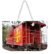 Red Sante Fe Caboose Train . 7d10332 Weekender Tote Bag