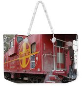 Red Sante Fe Caboose Train . 7d10334 Weekender Tote Bag